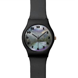 急ぐ水との魔法の自然な景色 腕時計