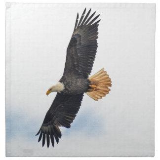 急上昇した白頭鷲のWildifeの写真の芸術 ナプキンクロス