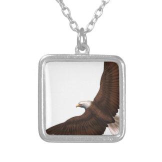 急上昇した白頭鷲 シルバープレートネックレス