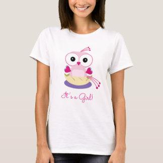 性はパーティー-ピンクのひな鳥-を女の子明らかにします Tシャツ