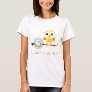 性はパーティー-黄色い鳥の工夫卵--を明らかにします Tシャツ