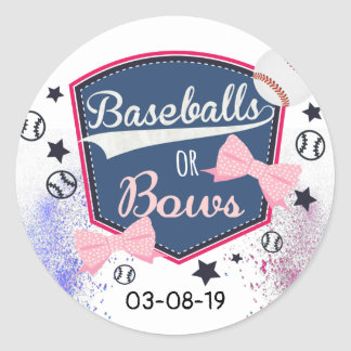 Gender Reveal baseball or bows