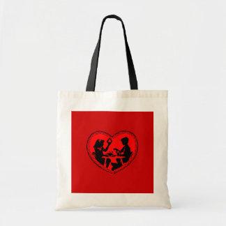 性交のバレンタインのバッグ芸術 トートバッグ