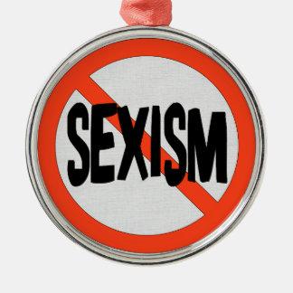 性差別主義無し メタルオーナメント