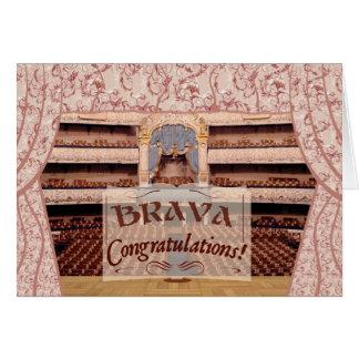性能のお祝い、女性のためのBrava カード