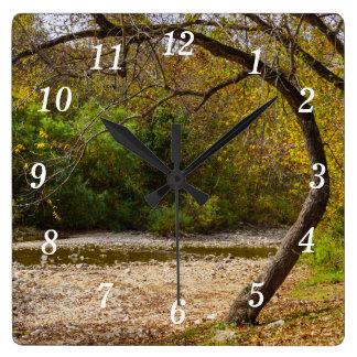 性質の円 スクエア壁時計
