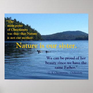 性質ポスターについてのG.K. Chestertonの引用文 ポスター