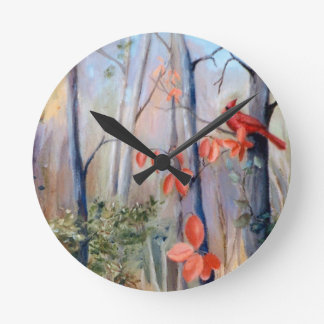 性質道の(鳥)ショウジョウコウカンチョウ ラウンド壁時計