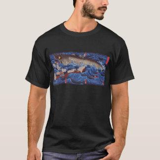 怪物鮫、国芳モンスターの鮫、Kuniyoshi、Ukiyo-e Tシャツ