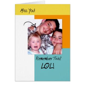 恋しく思うLOLのおもしろいな記憶粋な写真 グリーティングカード