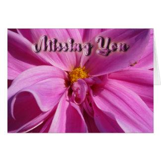 恋しく思っているピンクのデイジー カード
