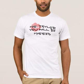 恋しく思われるテイラーBe氏 Tシャツ