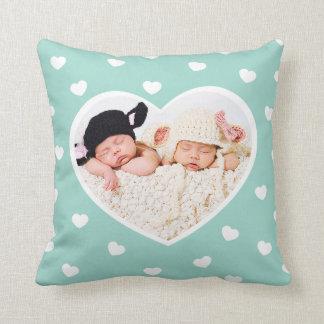 恋人のカスタムな写真の枕/ミント クッション