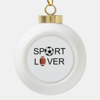 恋人のクリスマスの地球/陶磁器の球Ornamenを遊ばして下さい セラミックボールオーナメント