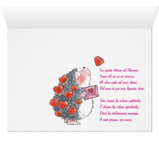 恋人のハリネズミ カード