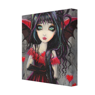 恋人のバレンタインの吸血鬼の妖精の芸術 キャンバスプリント