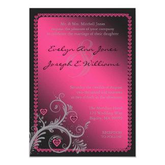 恋人のピンクの結婚式招待状ID169 12.7 X 17.8 インビテーションカード