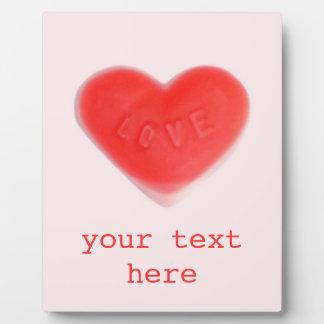 恋人のピンク「あなたの文字」の写真のプラク フォトプラーク