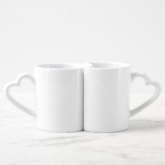 恋人のマグの一定のdiyテンプレートは写真のイメージの文字を加えます ペアカップ
