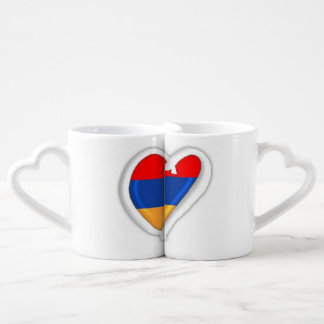 恋人のマグは|のアルメニア人のハートを置きました ペアカップ
