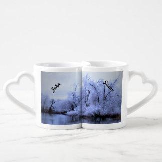 恋人のマグ、ヤナギの冬の不思議の国 ペアカップ