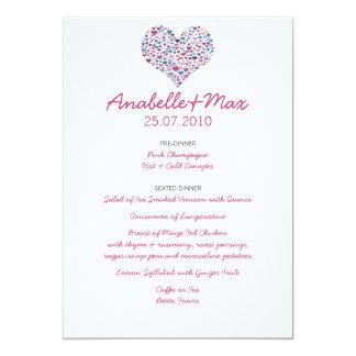 恋人の結婚式メニュー カード
