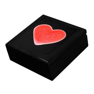 恋人の黒いギフト用の箱 ギフトボックス