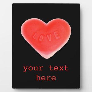 恋人の黒「あなたの文字」の写真のプラク フォトプラーク
