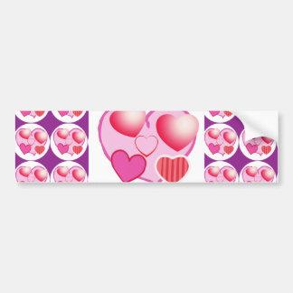 恋人パターン: ピンクのテーマ バンパーステッカー