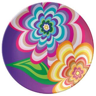恍惚状態の花 磁器プレート