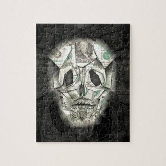 恐いスカルの黒 ジグソーパズル