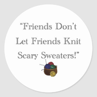 恐いセーター! ラウンドシール