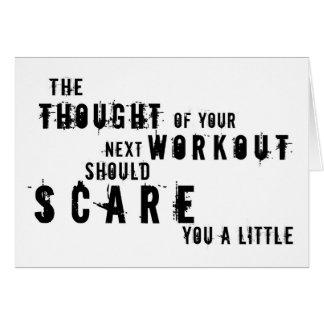 恐いトレーニングの挨拶状 カード
