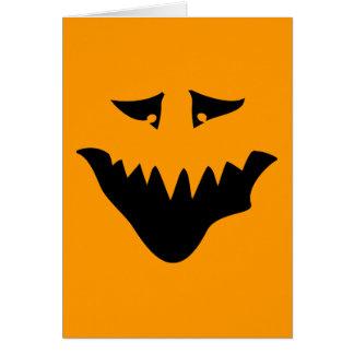 恐いモンスターの顔。 黒 カード