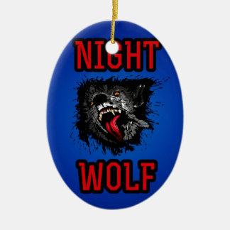 恐い夜オオカミ セラミックオーナメント