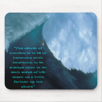 """恐い波は、""""成功の秘密…のあることです マウスパッド"""