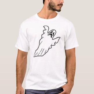 恐い直面されたシートのスタイルの幽霊のTシャツ Tシャツ