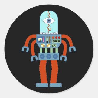 恐い眼球のロボット ラウンドシール