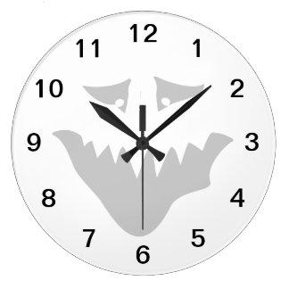 恐い顔の漫画 ラージ壁時計