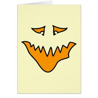 恐い顔。 オレンジモンスターのにやにや笑い カード