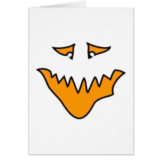 恐い顔。 オレンジモンスター。 カード