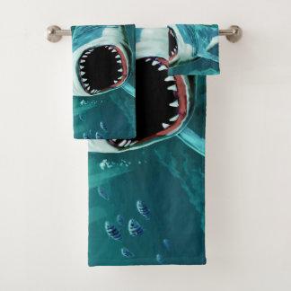 恐い鮫の名前をカスタムするタオルセット バスタオルセット