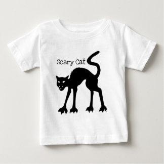 恐いCAT… 黒猫ハロウィンのプリント ベビーTシャツ