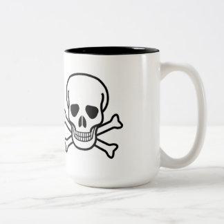 恐いHALOWEENのどくろ印のマグ ツートーンマグカップ