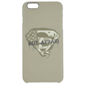 恐れていないスーパーマンのS盾| -米国の迷彩柄のロゴ クリア iPhone 6 PLUSケース