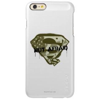 恐れていないスーパーマンのS盾| -米国の迷彩柄のロゴ INCIPIO FEATHER SHINE iPhone 6 PLUSケース