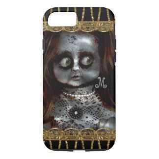 恐れている人形の恐いゴシックのモノグラム7 iPhone 8/7ケース