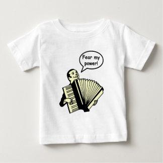 恐れて下さい私の力(アコーディオン)を ベビーTシャツ