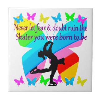 恐れのちょうど信頼のフィギュアスケートの蝶デザイン無し タイル