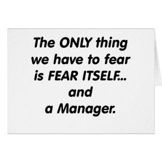 恐れのマネージャー カード